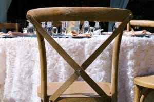 Why You'll Want Cross-Back Farm Chairs at Your Wedding